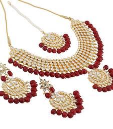 Buy Gold kundan Brass necklace-sets necklace-set online