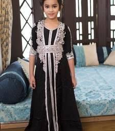 Buy Black  Designer Handmade Moroccan Style Kids Caftan kids-kaftan online