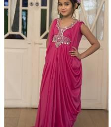 Buy Pink Designer Farasha Kaftan For Kids kids-kaftan online