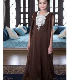 Buy Brown Color Arabic Style Kaftan For Kids kids-kaftan online