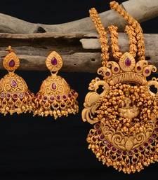 Buy Gold plated gheru necklace sets necklace-set online