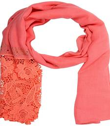 Buy Pink cotton Islamic Style Stole Daily Wear Arabian Hijab hijab online