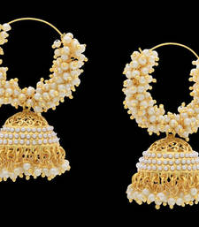 Buy BEAUTIFUL PEARLS HOOP BALI jhumka online
