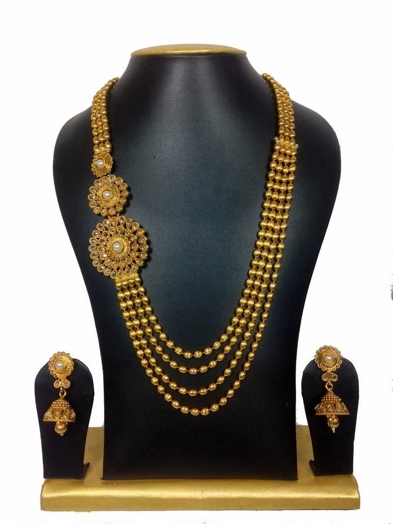 Buy Beautiful Venky Style High Gold Polish Haram Set Online