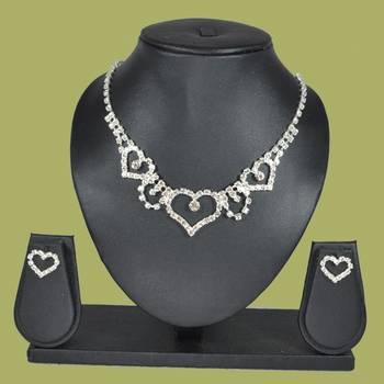 Sparkling Eternity Collection Signature Heartz Solitaire 4-piece American Diamond Jewellery Set