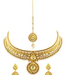 Buy Traditional South India style Gold plated Necklace Set necklace-set online