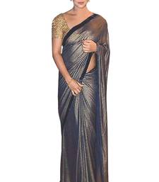 Buy Black embroidered georgette saree with blouse fancy-saree online