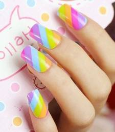 Buy Shimmer 'n sparkle, new fashion rainbow false nails decoration .decals tips nail-art online