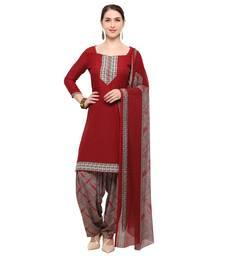 Buy Maroon digital print crepe salwar crepe-salwar-suit online