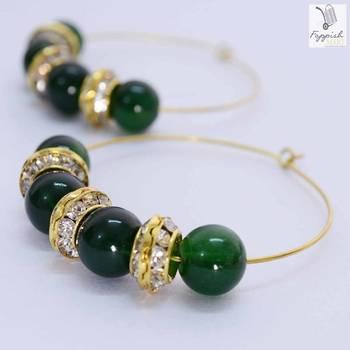 Rajasi Emerald Hoops