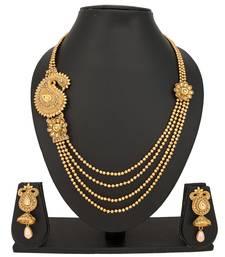 Buy Gold diamond necklace-sets necklace-set online