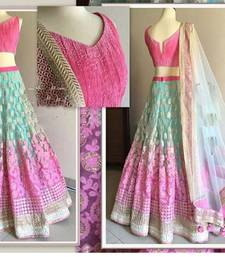 Buy multicolor net designer heavy work lehenga with dupatta lehenga-choli online