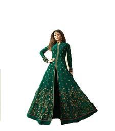 Buy Green embroidered georgette salwar festive-salwar-suit online