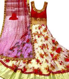 Buy Red banglori satin silk long anarkali suit anarkali-salwar-kameez online