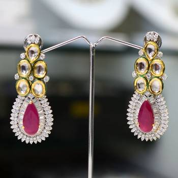Pear Ruby Fusion Danglers