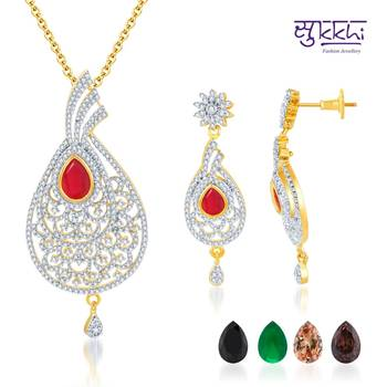 Sukkhi Alluring Gold and Rodium plated 4