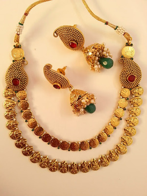 Gorgeous Lakshmi Kaasu & Mango Necklace Set