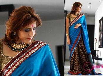 Chanderi jacquard saree