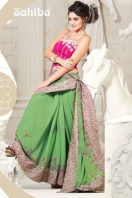 KALI EMBROIDERED DESIGNER SAREE 1009