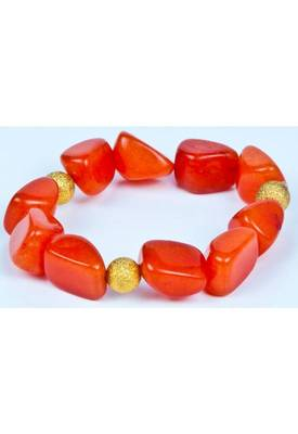 Piebee - Genuine Orange Jade Bracelet