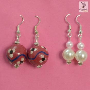 Strawberry Pink danglers (Set of 2)