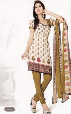 Crepe Dress Material Elegant Designer Unstitched Salwar Suit D.No 8141