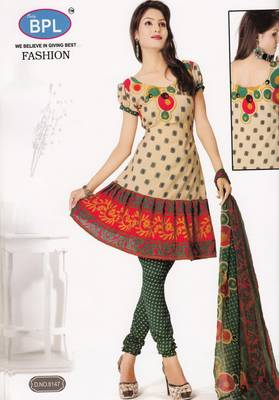 Crepe Dress Material Elegant Designer Unstitched Salwar Suit D.No 8147
