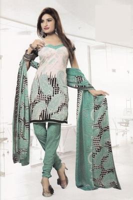 Crepe Dress Material Elegant Designer Unstitched Salwar Suit D.No 4328