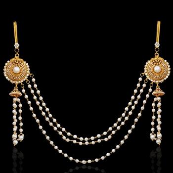 Ethnic Indian Bollywood Jewelry Set Pearl Polki Waist Band