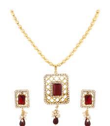 Buy Ruby Pendant Earrings Set Pendant online