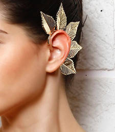 Buy Big Leaf Gold Ear cuff gifts-for-sister online