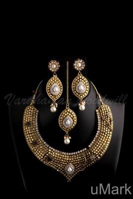 dulhan neckalce earrings set vgnl 383