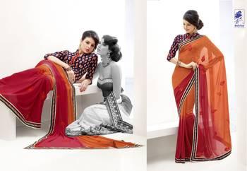 Elegant Designer Sari Kesar2