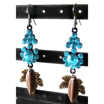 Blue stone studded earrings