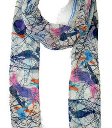 Buy SPRUSH PRINT MULTICOLOUR COTTON SCARF scarf online