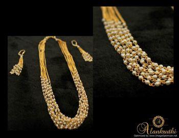 Alankruthi 8 Line Pearl Necklace Set 2
