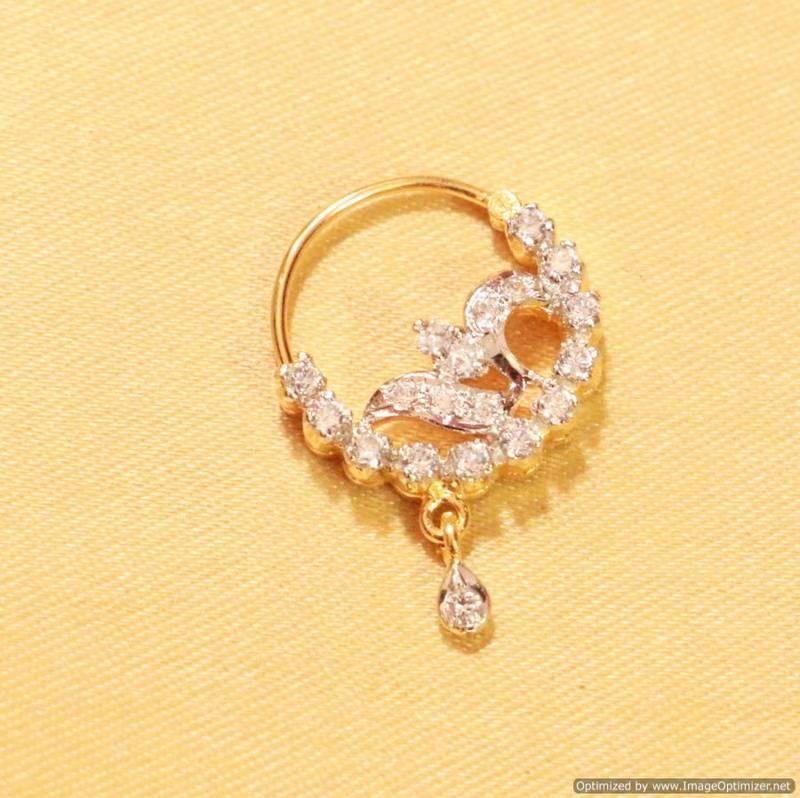 Buy Diamond Look Marathi Nose Ring Online