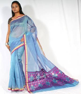 Organza fancy aanchal border Banarasi saree