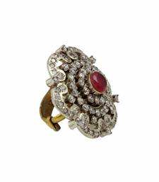 Buy Ruby Red Antique Victorian Finger Ring Jewellery for Women - Orniza Ring online