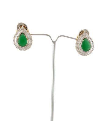 Sihiri Dazzling Green CZ Earrings