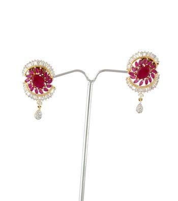 Sihiri Pink Disc Earrings