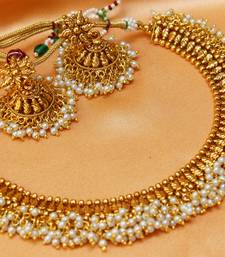Buy Lovely antique pearl necklace necklace-set online