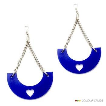 Swa Blue Heart danglers