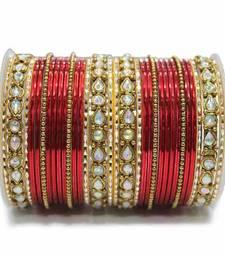 Buy Red zircon bangles-and-bracelets punjabi-jewellery online