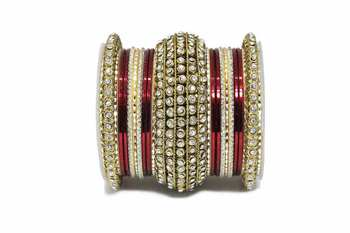Maroon zircon bangles-and-bracelets