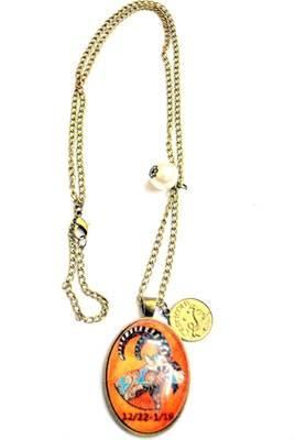 Capricorn zodiac long chain necklace