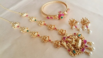Buy 1 gram gold necklace with bangle combo online 1 gram gold necklace with bangle combo aloadofball Gallery