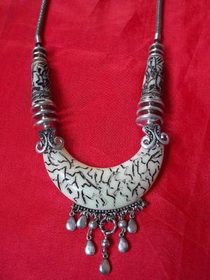 tibetian incribed tribal necklace