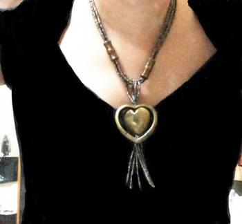 Copper Golden beads mala