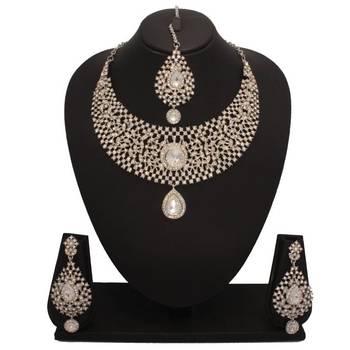 Bridal Diamond Necklace Set